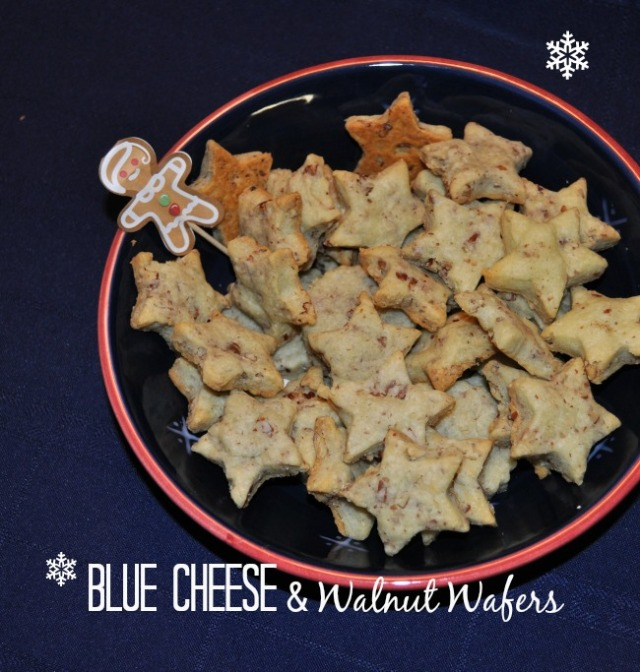 Blue Cheese and Walnut Wafers
