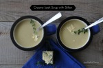 Creamy Leek Soup with Stilton