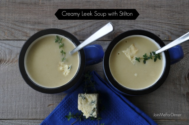 Creamy Leek Soup with Stilton