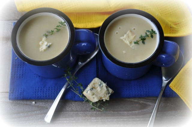 Leek and Potato Soup with Blue Cheese