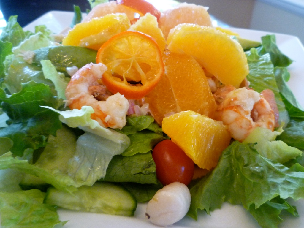 Warm Seafood Salad with Cajun Lime Butter