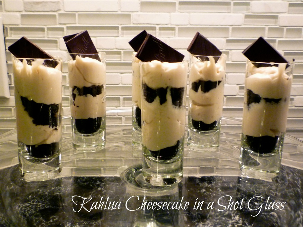 Kahlua (or Limoncello) Cheesecake in a Shot Glass