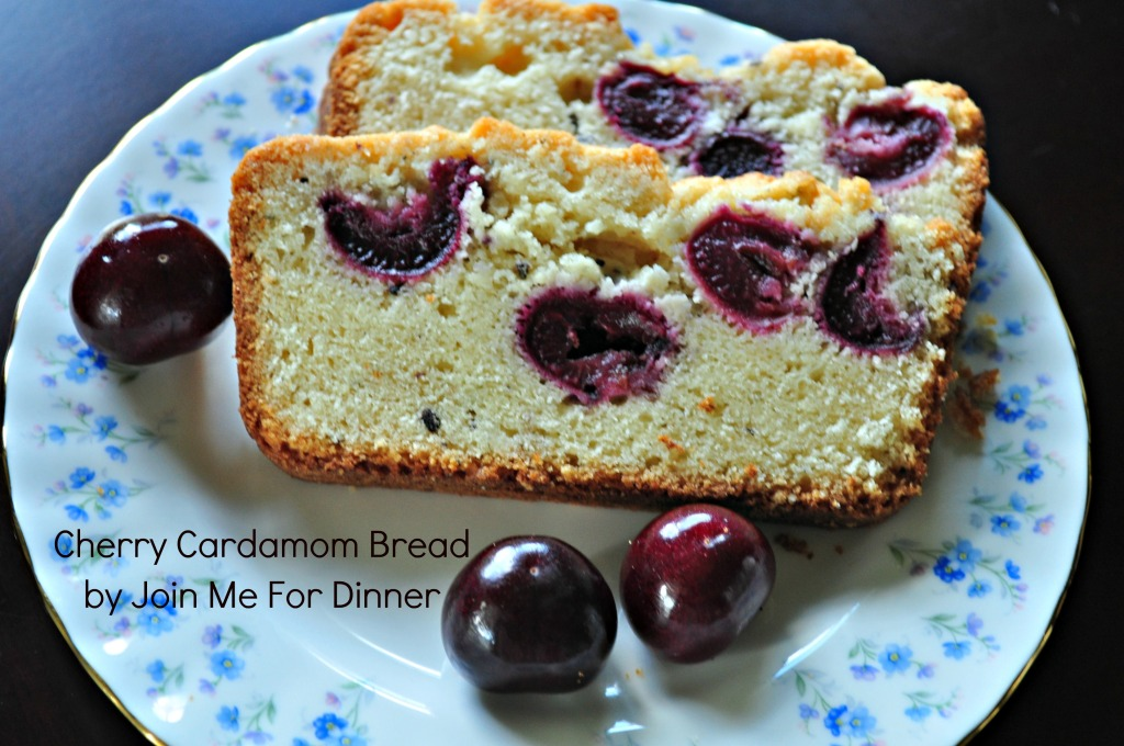 Cherry Cardamom Quick Bread