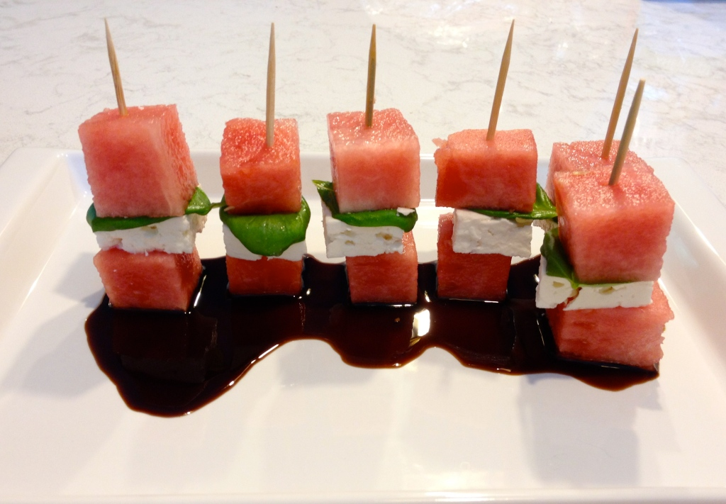 Watermelon-Feta Stacks