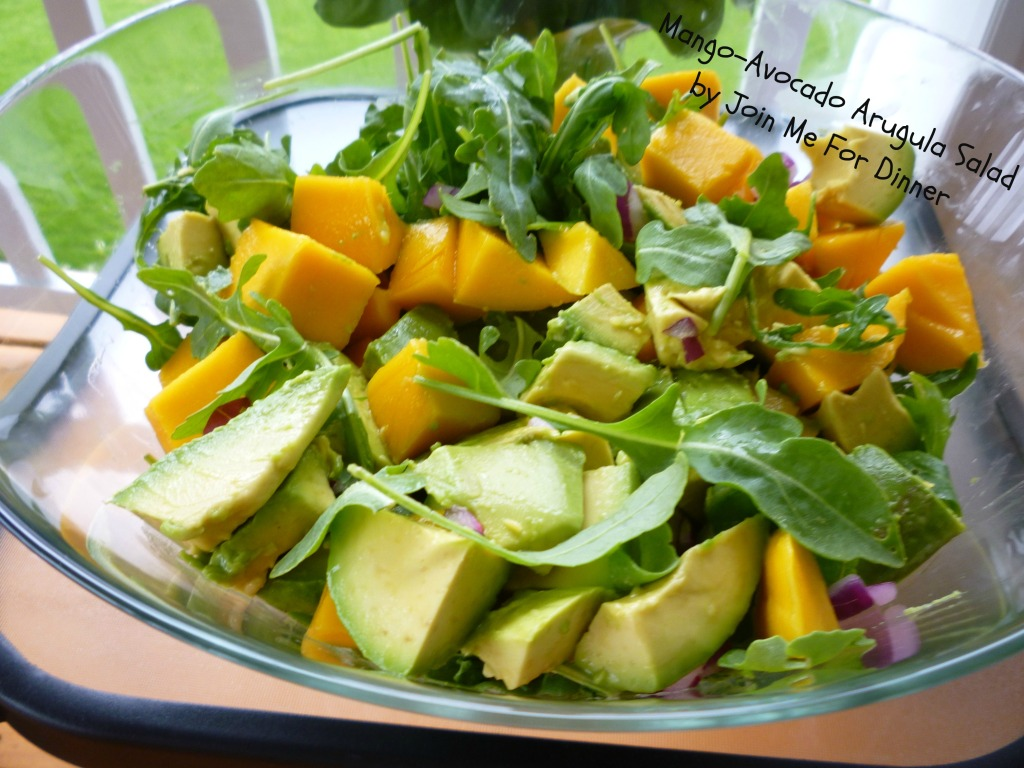 Mango, Avocado and Arugula Salad with Citrus Vinaigrette