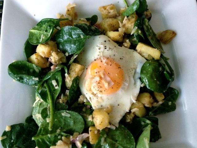Warm Spinach Salad by JoinMeForDinner