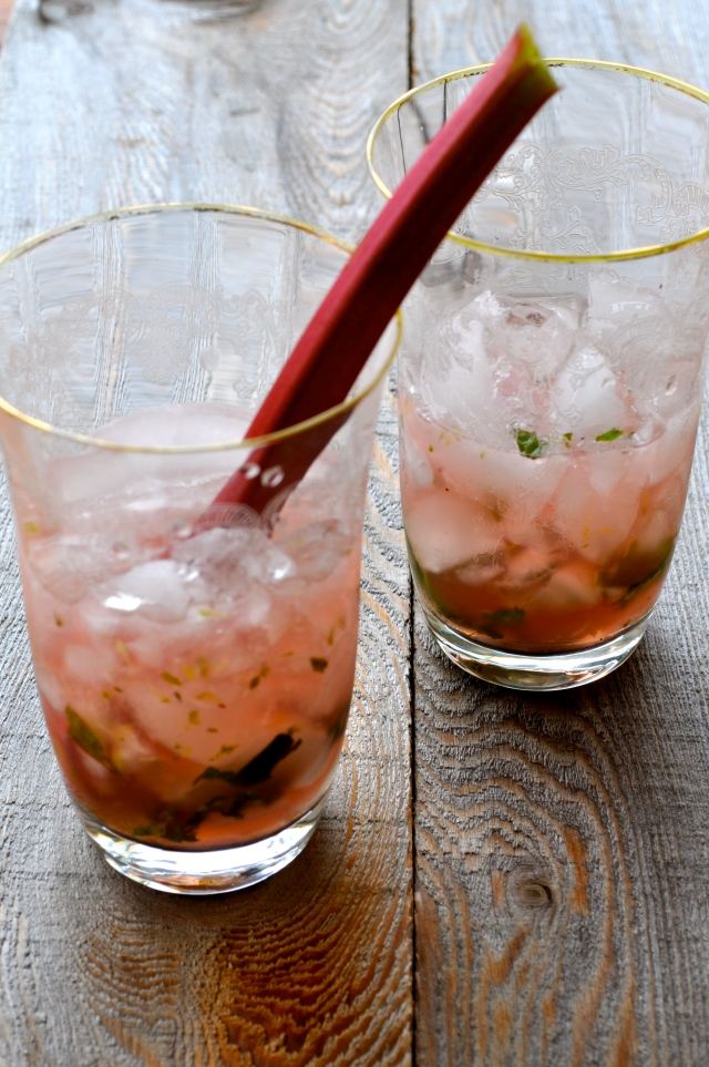 Rhubarb Mohito Cocktail