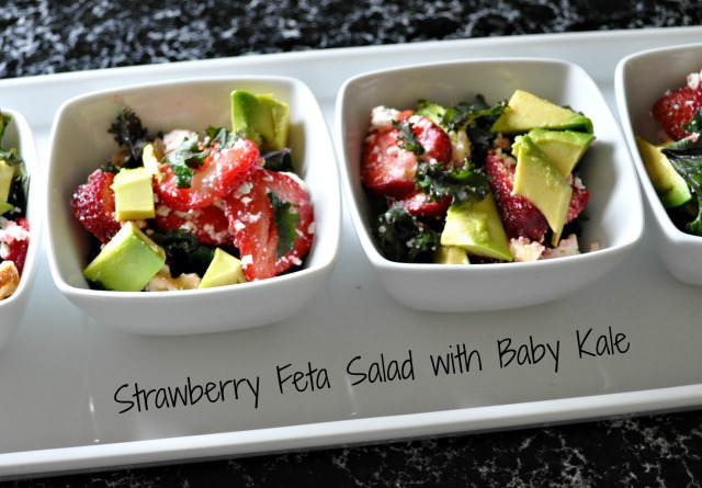 Baby Kale Salad with Strawberries and Avocado