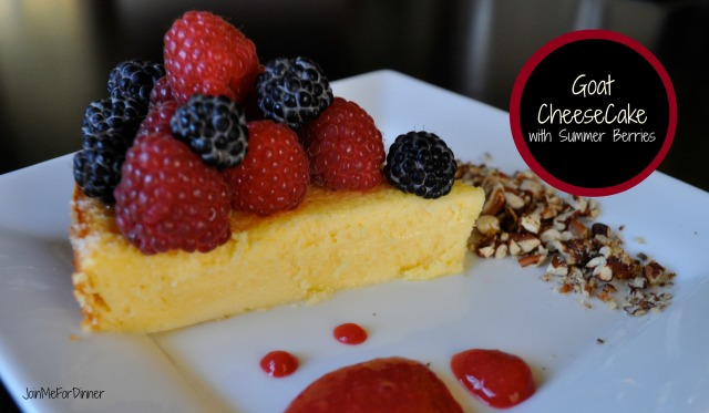 Goat Cheesecake with Summer Berries