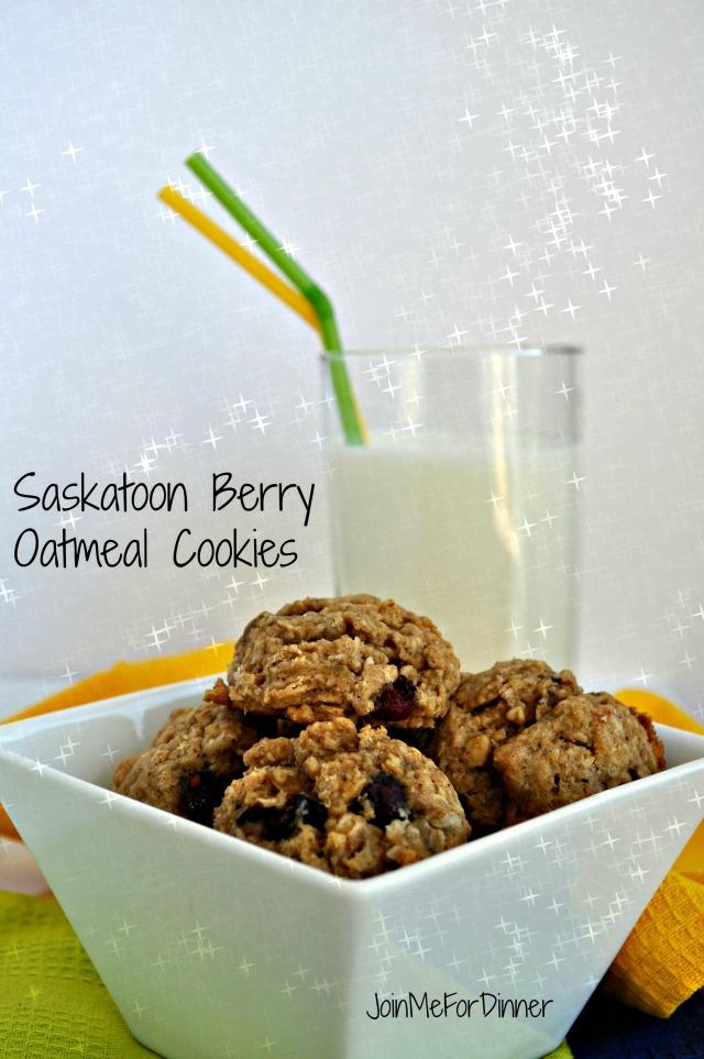 Saskatoon Berry Oatmeal Cookies