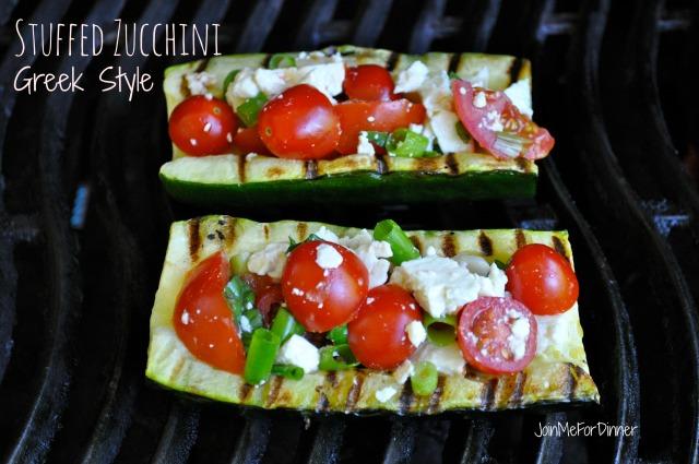 Stuffed Zucchini Greek Style