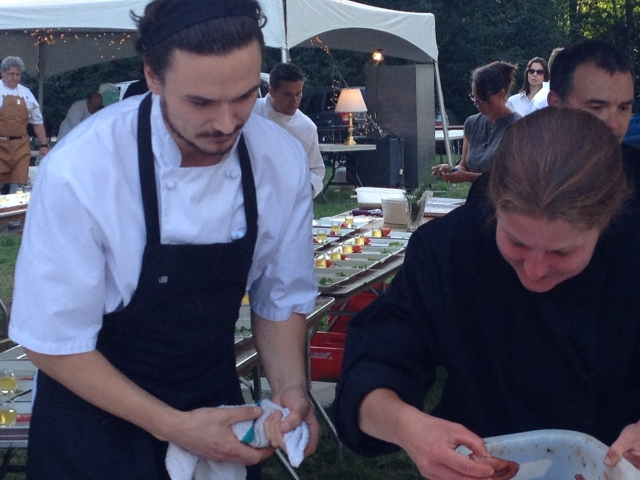 plating the first course