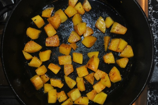 pan-seared squash