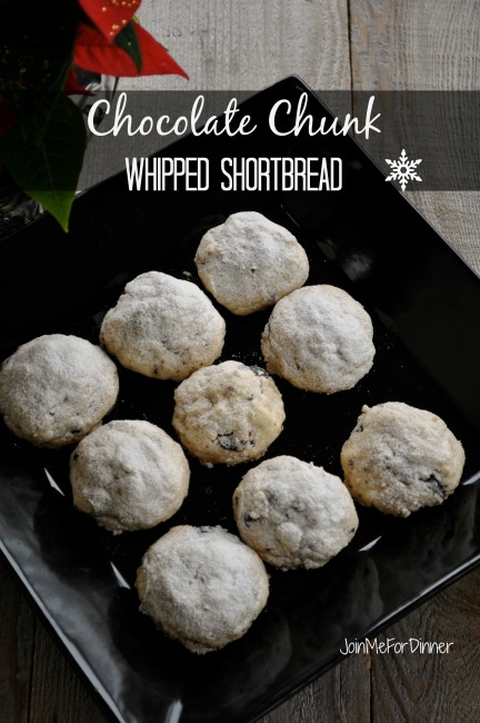 Chocolate Chunk Whipped Shortbread