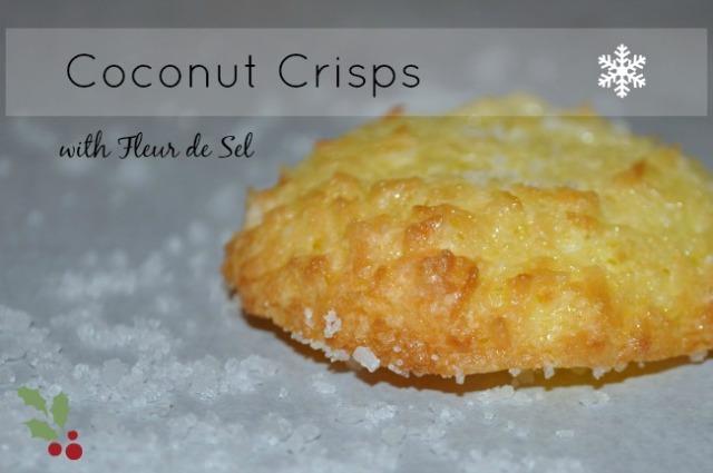 coconut crisps with fleur de sel
