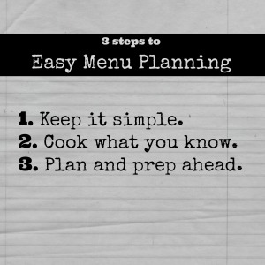 3 steps to Easy Menu Planning