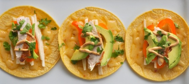 Chipotle Chicken Tostados
