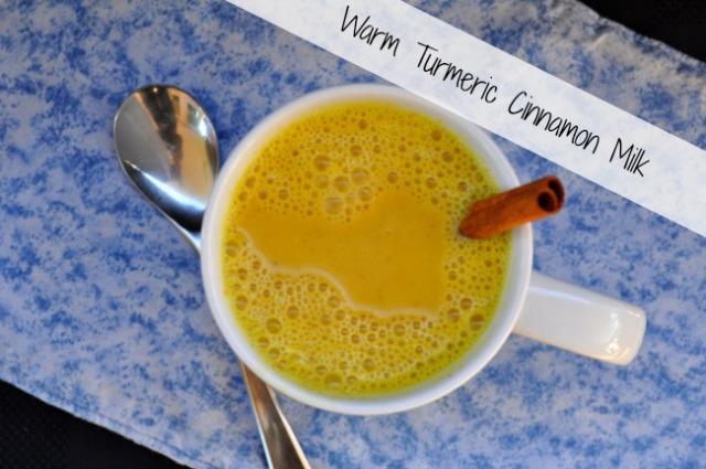 Warm Turmeric Cinnamon Milk.