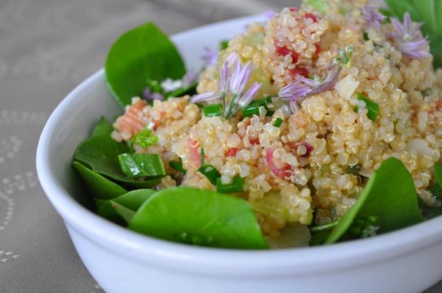 Rhubarb-Quinoa Salad