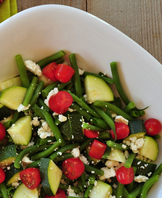 Fresh Green Bean and Zucchini Salad by JoinMeForDinner