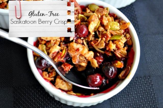 Saskatoon Berry Crisp
